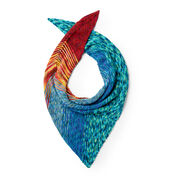 Go to Product: Caron Ocean Sunset Knit Shawl in color