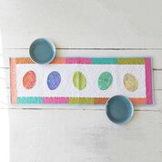 Coats & Clark Easter Egg Table Runner with Applique