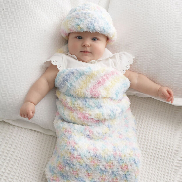 Bernat Baby Cocoon and Hat in color