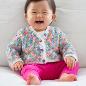 Go to Product: Red Heart Butterfly Days Baby Cardigan, 0/3 mos in color