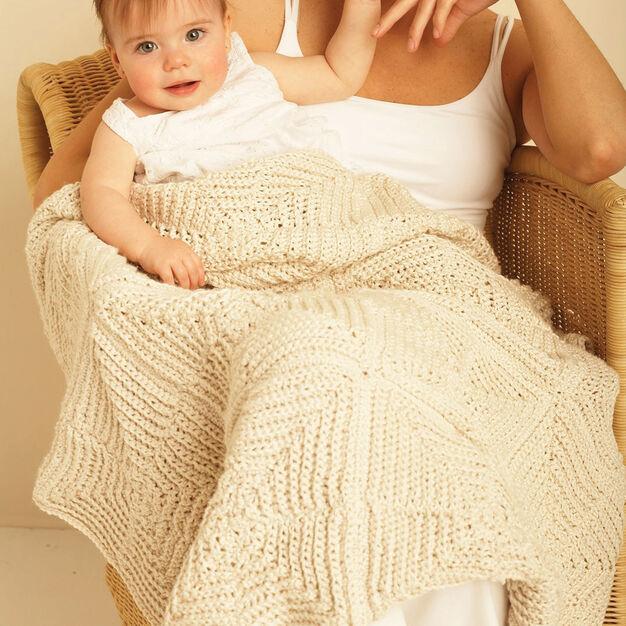 Bernat Mitered Blanket, Handicrafter Cotton
