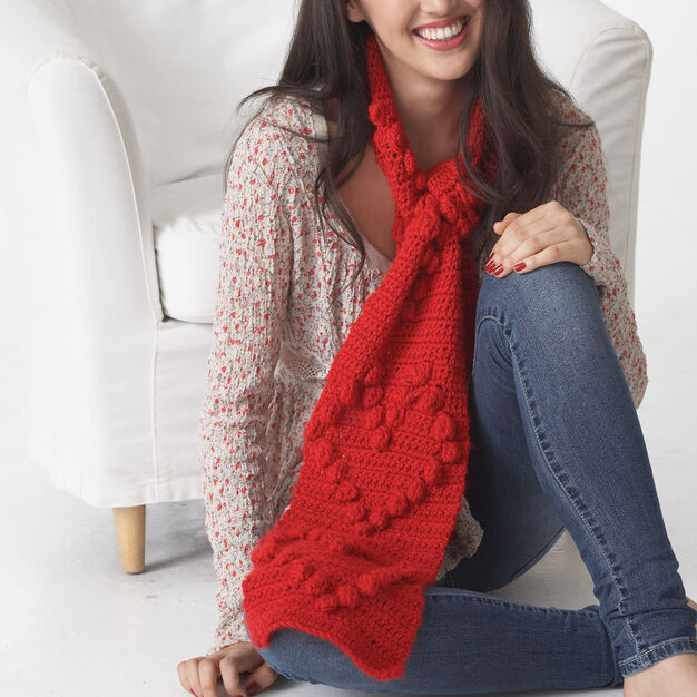 Bernat Valentine Heart Scarf in color