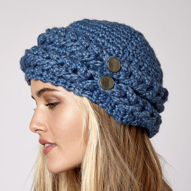 Images. Bernat Mock Cable Hat cfbe4ad77f1