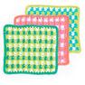 Lily Sugar'n Cream Mod Gingham Dishcloth, Size 1