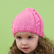 Red Heart Cabled Baby Beanie, 6 mos