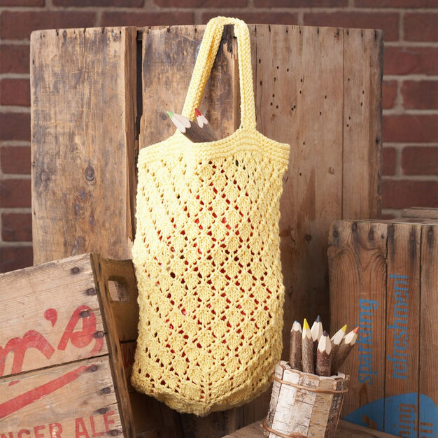 Lily Sugar'n Cream Lattice Lace Market Bag