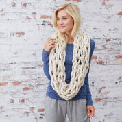 Red Heart Cozy Arm-Knit Cowl