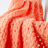 Caron Easy Peasy Baby Blanket, Peach in color