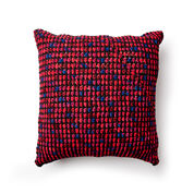 Bernat Crochet Granite Stitch Floor Cushion