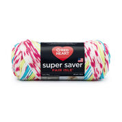 Red Heart Super Saver Fair Isle Yarn, Candy