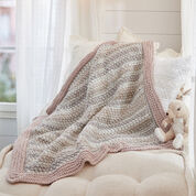 Red Heart Tunisian Peek-a-Boo Baby Blanket