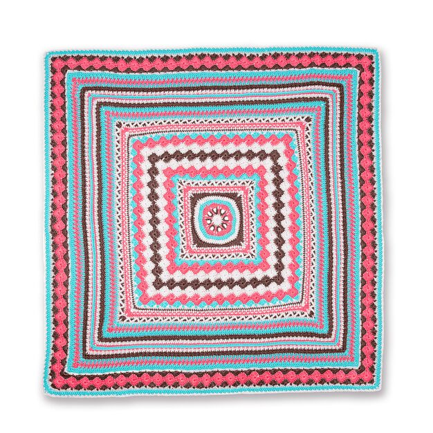 Red Heart Better Together Crochet Afghan, Version 1 in color