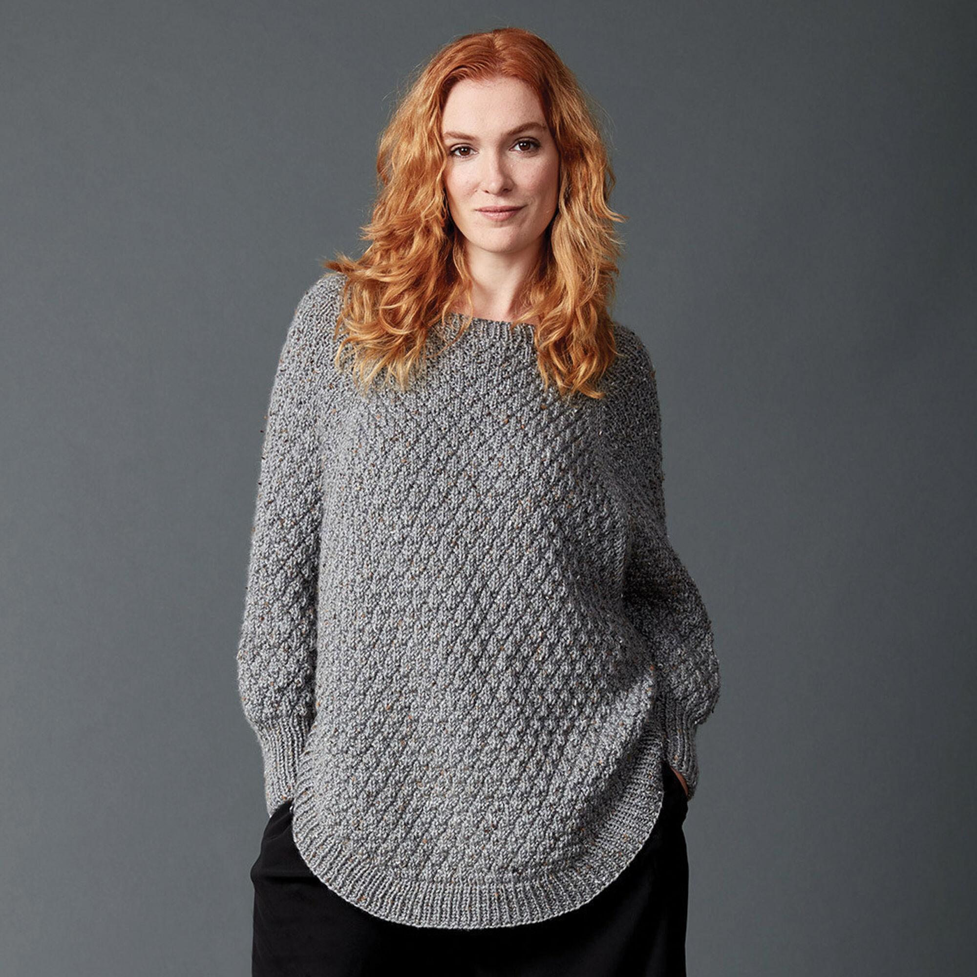 Caron Great Curves Knit Poncho, XS/S/M | Yarnspirations