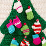 Red Heart Christmas Tree Wall Hanging in color