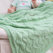 Red Heart Lace Chevrons Baby Blanket