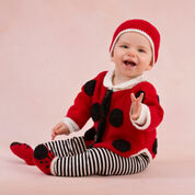 Red Heart Sweet Lady Bug Baby Set, 0/3 mos