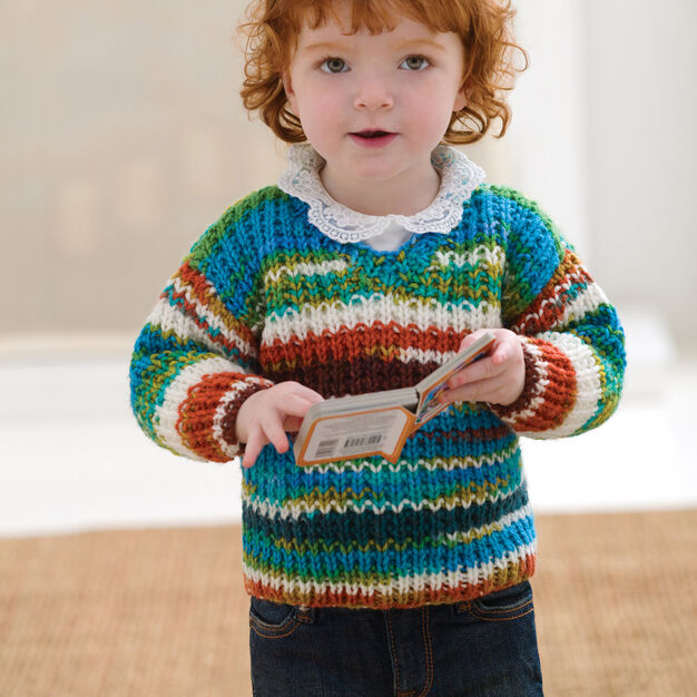 Red Heart Baby Sweater, 12 mos in color
