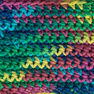 Lily Sugar'n Cream Super Size Ombres Yarn, Psychedelic in color Psychedelic