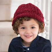 Red Heart Child's Rolled Brim Hat, S