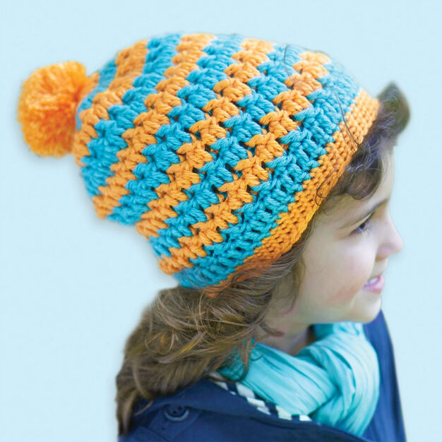 Caron Textured Hat in color