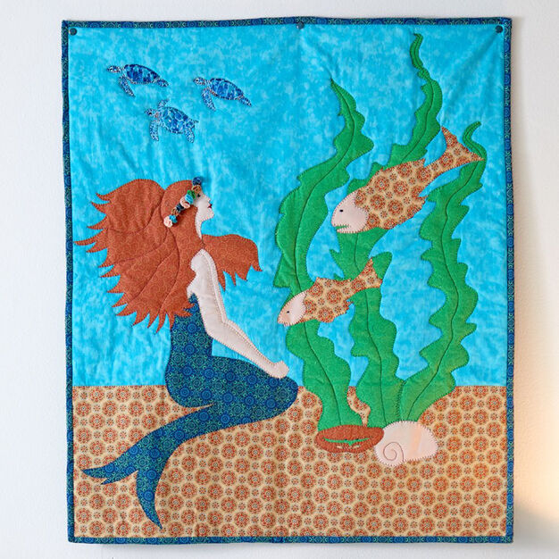 Dual Duty Whimsical Mermaid Wall Hanging in color