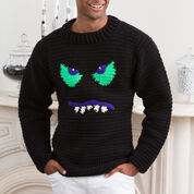 Red Heart Monster Face Sweater, S