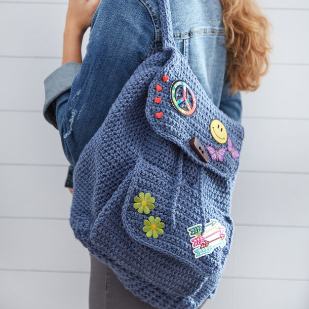 Red Heart Patch Backpack