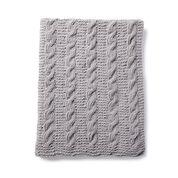 Bernat Cozy Cables Knit Blanket