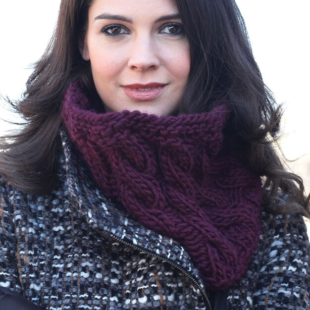 Bernat Last Minute Cowl in color
