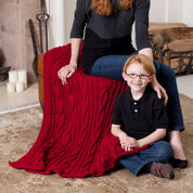 Red Heart Cabled Comfort Throw