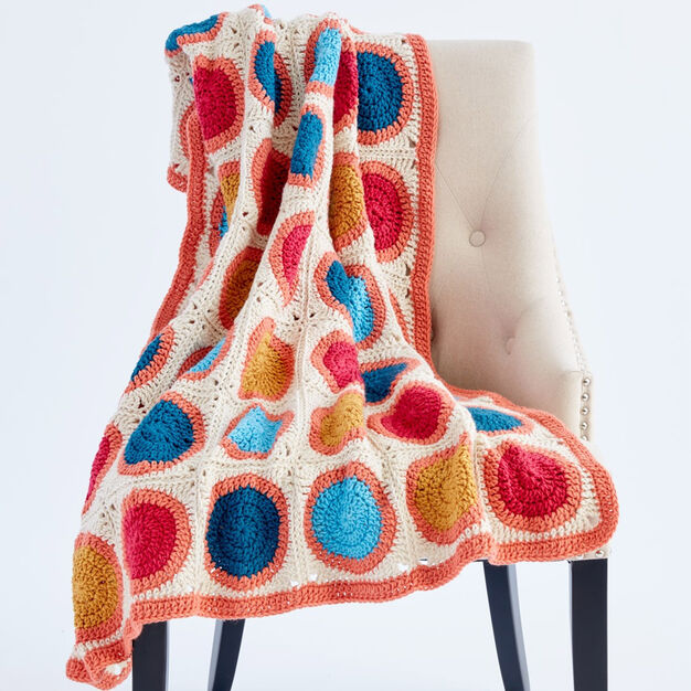 Caron Circle Takes The Square Crochet Blanket Yarnspirations
