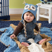 Red Heart Owl Baby Hat, Baby
