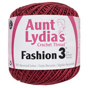 Go to Product: Aunt Lydia's Fashion Crochet Thread Size 3, Scarlet in color Scarlet