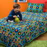 Red Heart Kids Twin Bed Afghan & Pillow in color