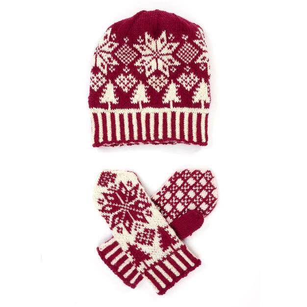 Patons Northern Fair Isle Knit Hat And Mittens Yarnspirations