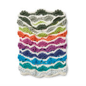 Caron x Pantone Rainbow Chip Crochet Cowl