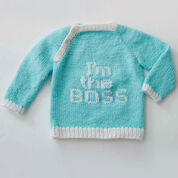 Bernat Get the Message Pullover, 6 mos