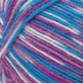 Red Heart Comfort Yarn, White/Turq/Violet Print in color White/Turq/Violet Print Thumbnail Main Image 2}
