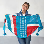 Go to Product: Red Heart Abstractly Chic Shawl Crochet-Along in color