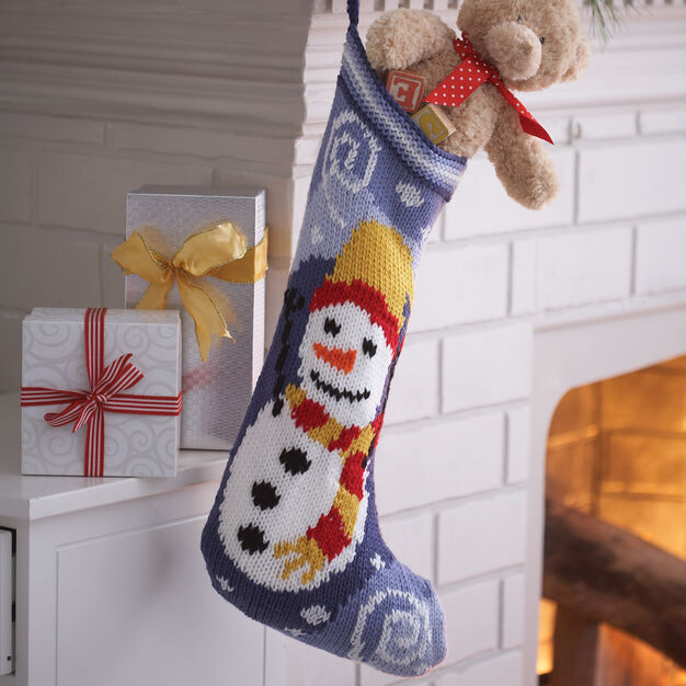 Bernat Snowman Stocking in color