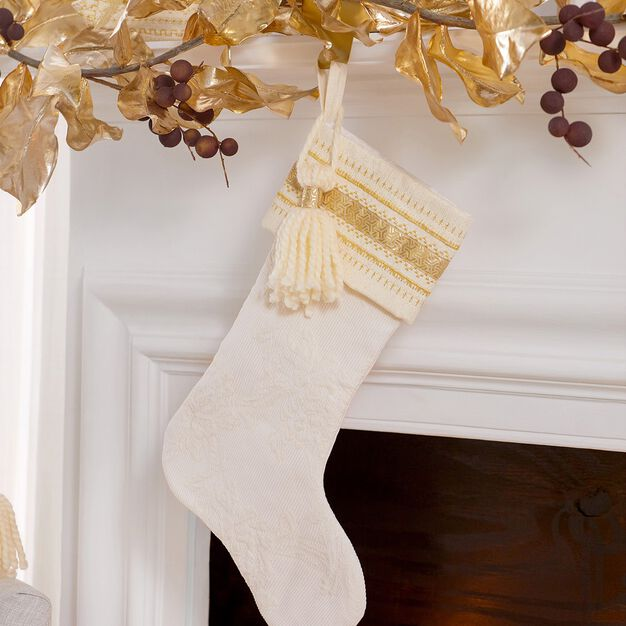 Coats & Clark Golden Accents Christmas Stocking in color