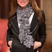 Red Heart Houndstooth Ruffle Scarf