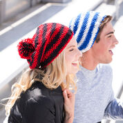 Red Heart Let's Go! Slouchy Knit Hat, S