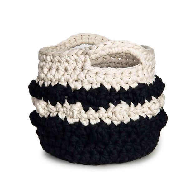 Bernat Bobble Stripe Crochet Basket in color