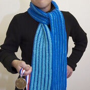 Go to Product: Red Heart Special Olympics Rib Crochet Striped Scarf in color