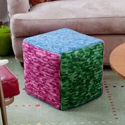 Go to Product: Red Heart Cube in Tones Ottoman in color