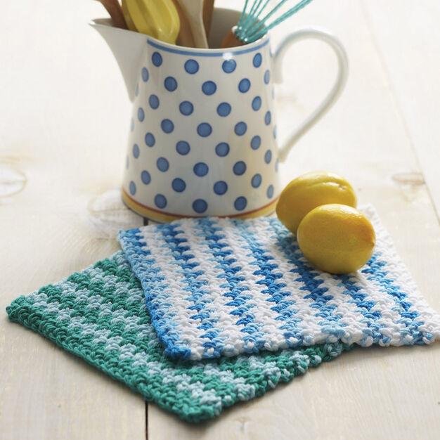 Lily Sugar N Cream Basic Striped Dishcloth Version 1 Pattern