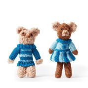 Go to Product: Red Heart Brother and Sister Bears to Crochet in color