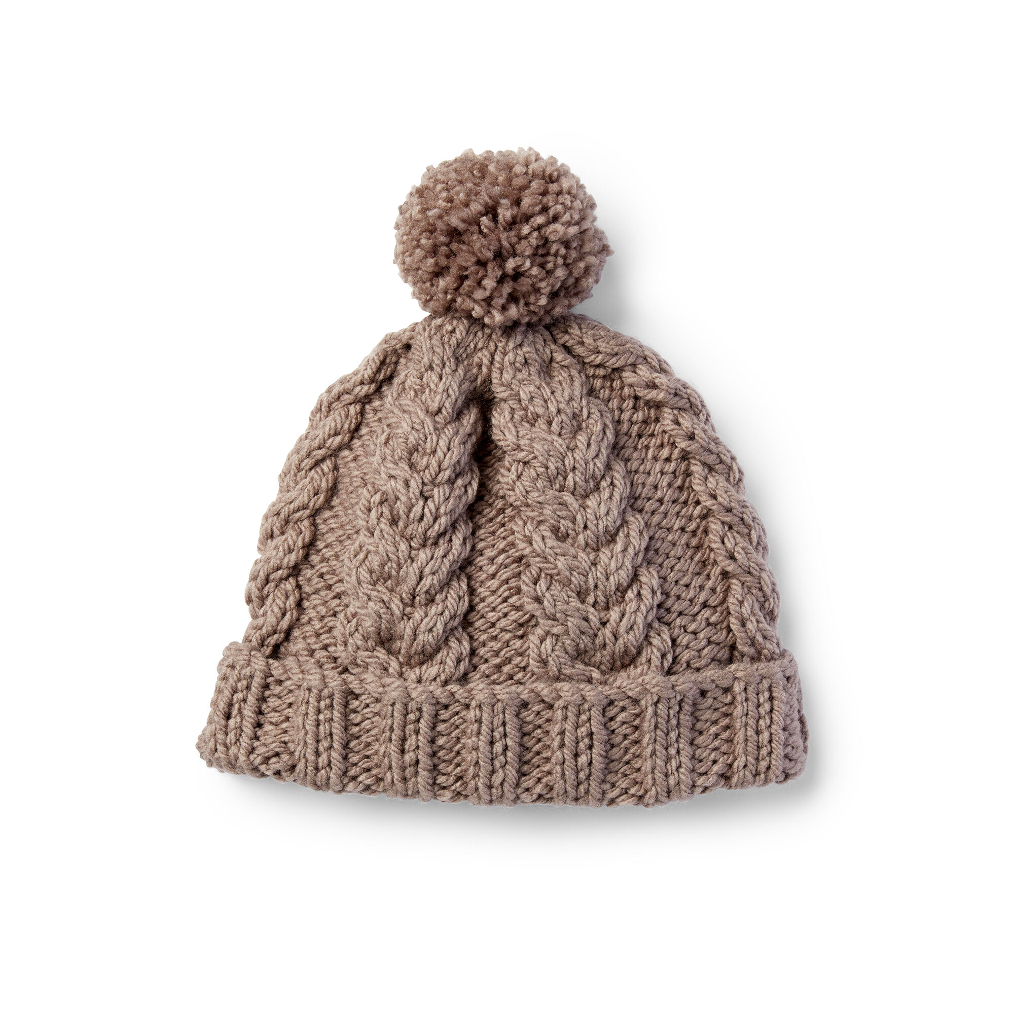 23022b4060d ... bernat cozy cable knit hat