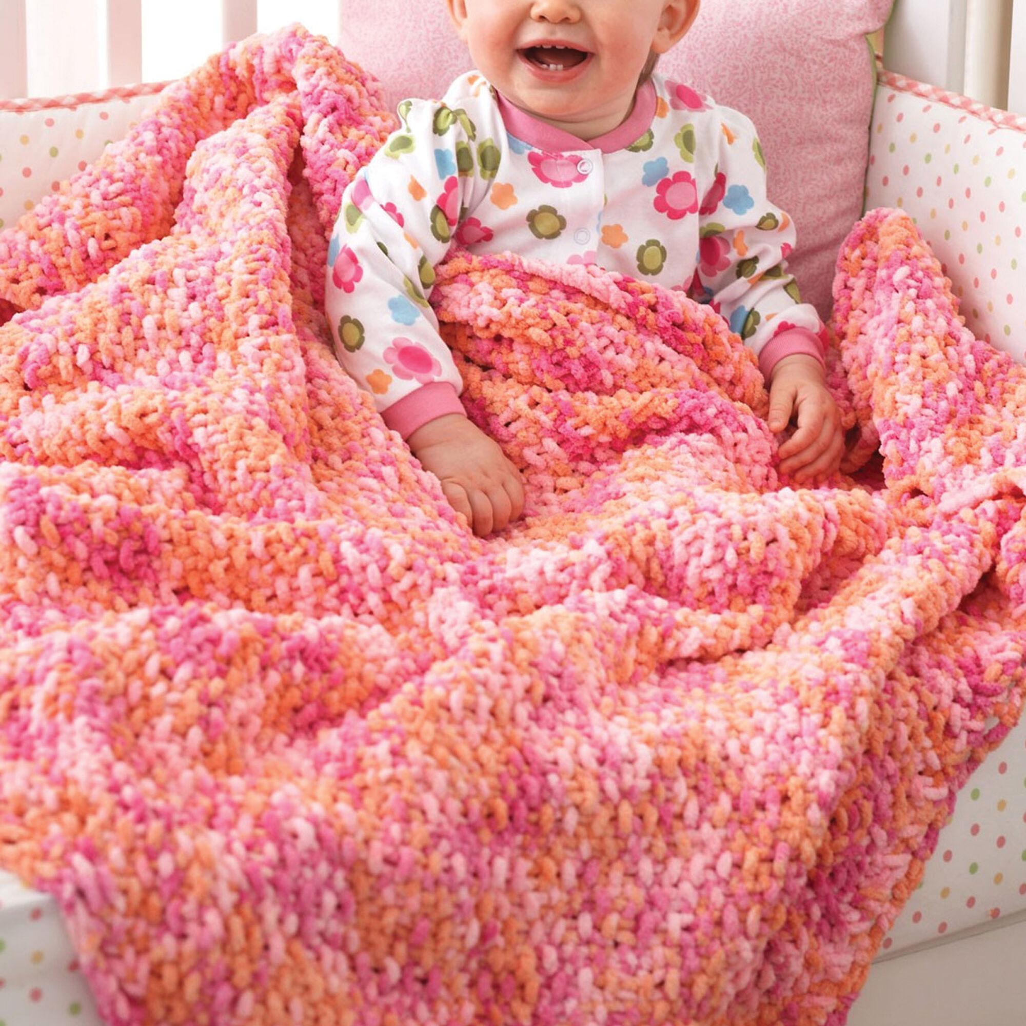 Bernat Corner To Corner Seed Stitch Blanket Pattern Yarnspirations